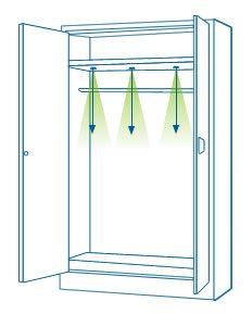 Instalación de iluminación LED en armarios - Empotrados
