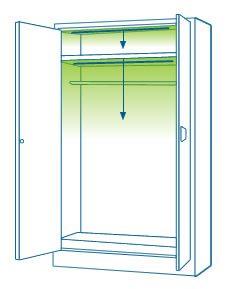 Instalación de iluminación LED en armarios - Proyección por niveles