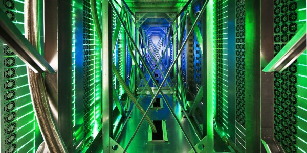 google data center green led