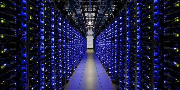 Iluminacion led google data center