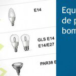 Tabla de equivalencia de potencias de las bombillas LED