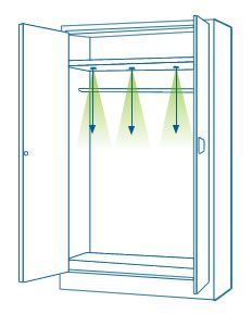 Led instalacion armarios 2 empotrados ledbox news - Iluminacion interior armarios ...