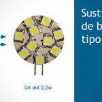 Sustitución de bombillas tipo Bi-pin