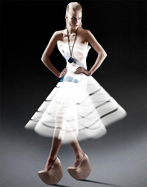 Fashion Photos of Models Wearing Light Painted Dresses