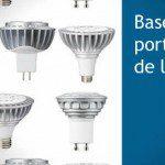 Bases y portalámparas para luminarias tipo LED