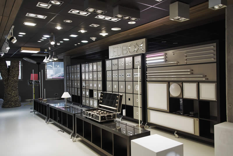 Showroom Ledbox de iluminación Led