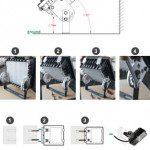 Montaje proyector led exterior CREE