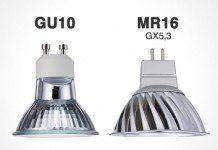 Diferencia entre GU10 y MR16 led