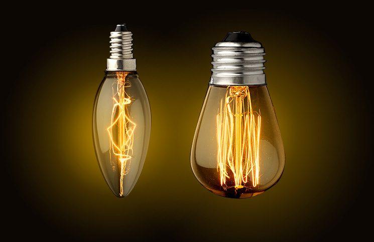 bombillas led de filamentos de aspecto retro e