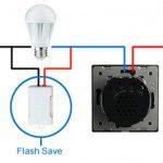 esquemas parpadeo flash save led