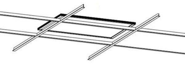 Instalación paneles led empotrados en los perfiles de un falso techo tipo Amstrong
