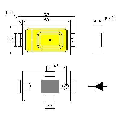 Tamaño chip SMD5730 y SMD5630