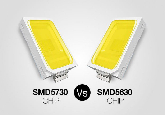 Comparativa chip SMD5730 y SMD5630