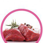 Iluminacion led carne fresca