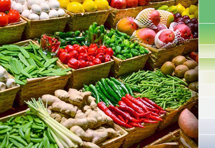 Realza el color y brillo de los alimentos frescos como frutas y verduras.