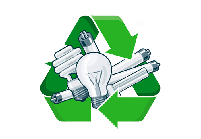 Reciclaje de luminarias y bombillas led