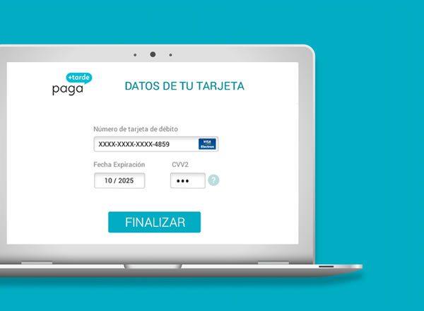 Introduces los datos de tu tarjeta de débito