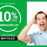en Mayo. 10% descuento en iluminación led