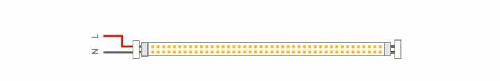 Instalación de Tubos LED por un extremo