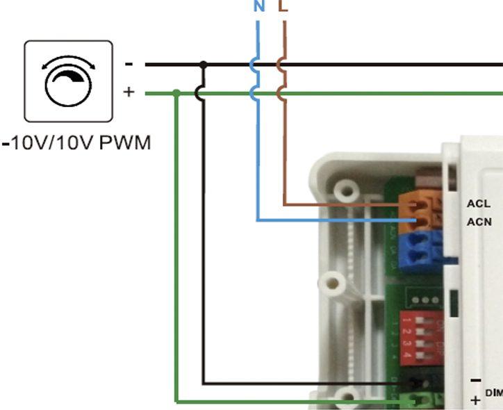 conexión con driver 1-10v